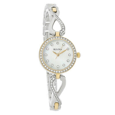 Bulova Infinity Ladies Crystal Two Tone Quartz Watch 98X109