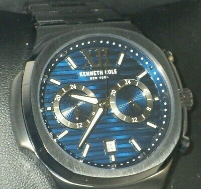 Kenneth Cole KC51017006 Men''s Multi-Function Black Stainless Steel Watch