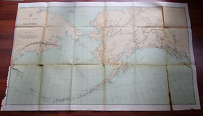 1891 USGS Color Map, General Chart of Alaska