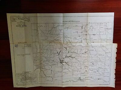 1949 Map of Osage River MO KS Recommended Plan River Basins