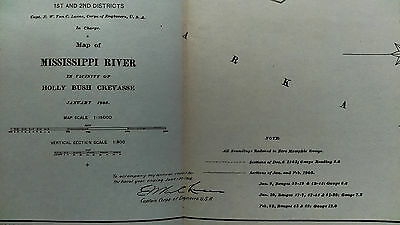 1905 Sketch Map of Miss. River, Holly Bush Crevasse, Harrison and Redman's Lodge