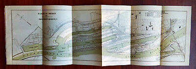 1905 Sketch Map of Harbor of Bremen Germany Administration Buildings