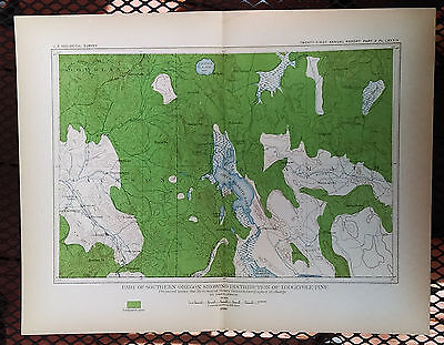 1899 Map of Southern Oregon Distribution of White Fir Trees Crater Lake Klamath