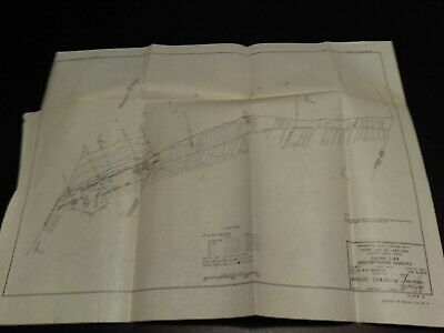 1948 Lake Erie shore line and offshore changes Map Cleveland Ohio Beach Erosion