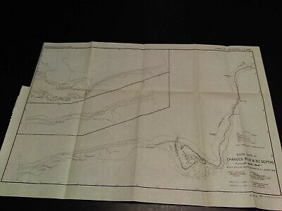 1946 South Shore Changes in Depths Beach Erosion Board Charlestown Map