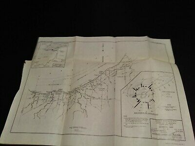 1948 Lake Erie General Map Cleveland Ohio Wind Diagram Beach Erosion Study