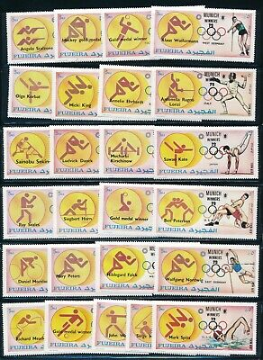 Fujeira - Munich Olympic Games MNH 24X Stamps Set (1972) Hard to find