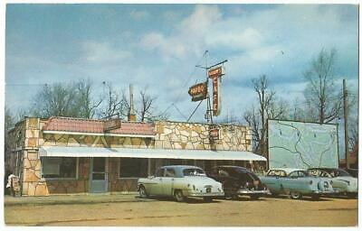Camdenton Missouri MO ~ Adams Cafe Restaurant Lake of the Ozarks 1950's