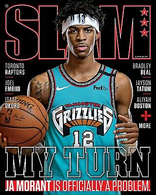 Ja Morant Memphis Grizzlies NBA Rookie Slam Magazine Cover May/June No Label