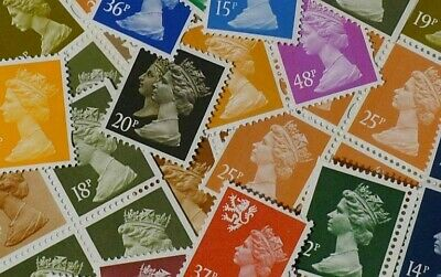 DISCOUNTED CHEAP POSTAGE - £10 Face value definitives - Fresh unmounted mint