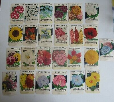 EMPTY Lot of 25 Old Vintage 1940/'s FLOWER SEED PACKETS Lone Star TEXAS