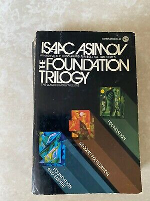 The Foundation Trilogy by Isaac Asimov Paperback 1974  5th Printing Avon Books