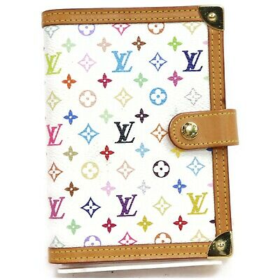 Louis Vuitton Diary Cover Agenda PM R20896 Whites Monogram Multicolore 903508