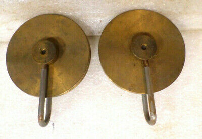 Two Large Vintage Brass Grandfather Weight Pulleys
