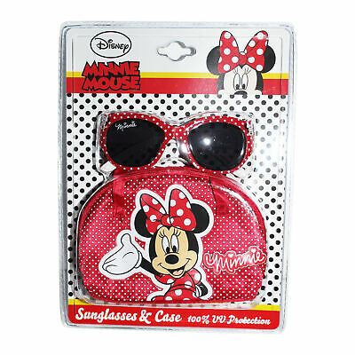 Childrens Character Sunglasses & Case UV protection Holiday Disney Minnie Mouse