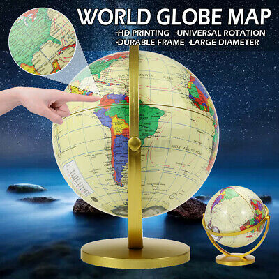 360° Rotating World Globe Earth Map Geography Education Toy Kids Gift Desktop