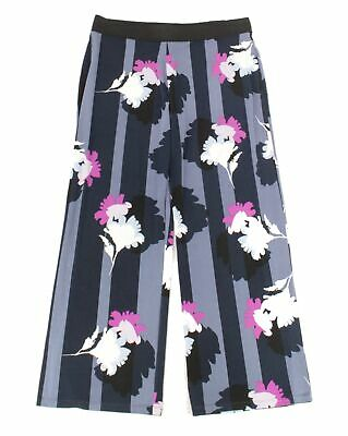 Alfani Women's Pants Blue Size 2X Floral Print Stripe Wide-Leg Stretch $69 #299