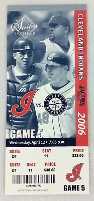 MLB 2006 04/12 Seattle Mariners at Cleveland Indians Ticket-Richie Sexson HR