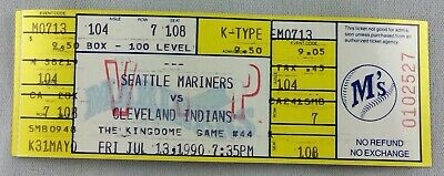 MLB 1990 07/13 Cleveland Indians at Seattle Mariners Full Ticket-Candiotti WP