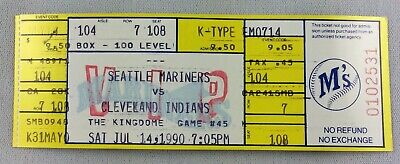 MLB 1990 07/14 Cleveland Indians at Seattle Mariners Full Ticket-Bud Black WP
