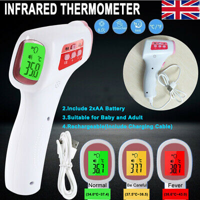 IR Infrared Digital Forehead Fever Thermometer Gun Non-Contact Baby / Adult Body
