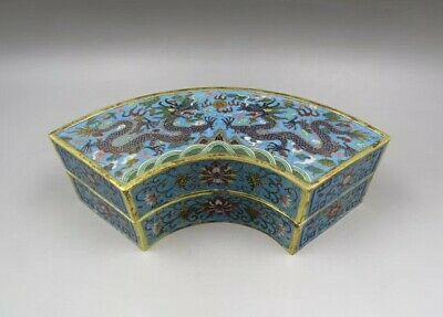 Chinese Antique Qing Imperial LARGE Gilt Bronze Cloisonne Box With Mark