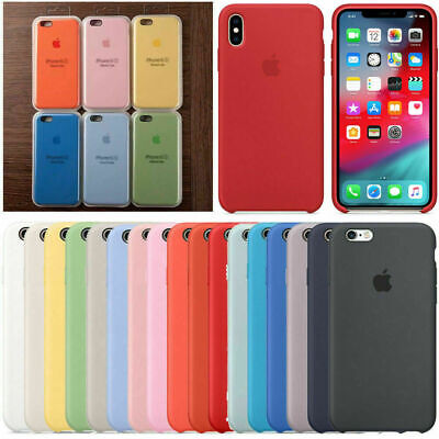 Original Silicona Genuina Case Funda Para Apple iPhone X XR XS Max 6 7 8 Plus ES