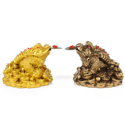 NE_ Oriental Fortune Chinese Frog Coin Feng Shui Toad Money Lucky Home Office Ey