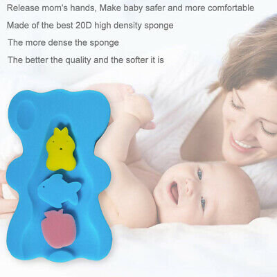 NE_ Bath Sponge Support Safety Aid Bathing Mat Foam Non Slip Cushion for Baby In