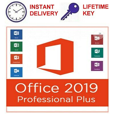 Microsoft Office 2019 Pro Plus License key And Download INSTANT DELIVERY 7/24
