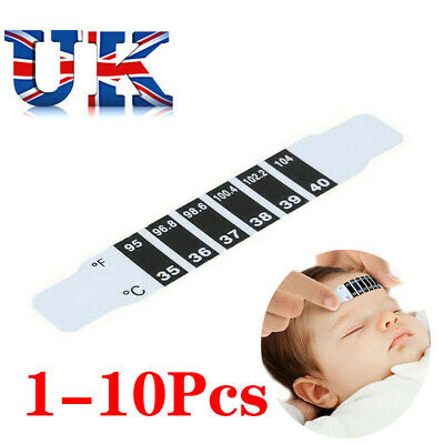 1-10x FOREHEAD THERMOMETER FEVER SCAN STRIP, BABY, CHILD ADULT CHECK TEMPERATURE