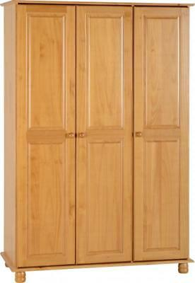 Sol Antique Pine 3 Door Triple Wardrobe