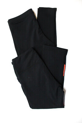 Pheel Terez Womens Leggings Black Neon Orange Size Small Large Lot 2
