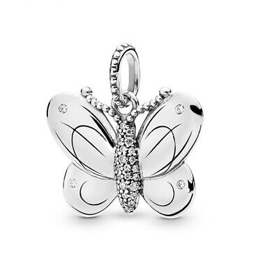 DIY 925 Silver European Charm Butterfly Spacer Beads Fit Necklace Bracelet HOT /