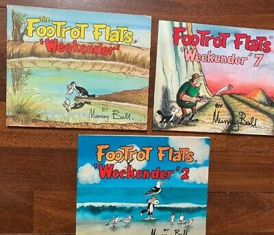 3 FOOTROT FLATS weekenders 1,2 and 7 MURRAY BALL Comic Vintage RARE
