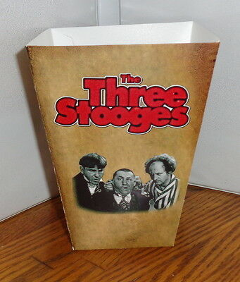 Three Stooges Popcorn Box # 1. Comedy.....free Shipping