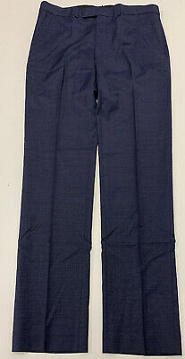 Kenneth Cole 36x30 Blue Pin Dot Mens Pants NEW with tags Wool/Spandex Slacks