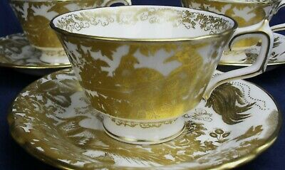 Royal Crown Derby GOLD AVES  A1235 tea cup & saucer up to 9 available