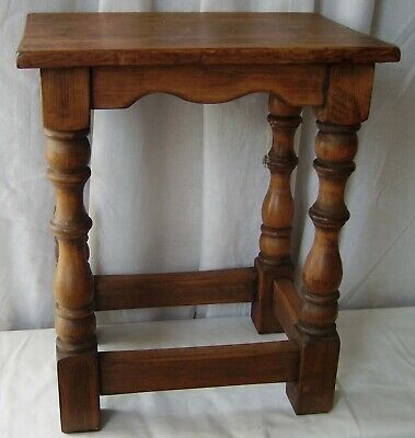 Antique Small Table Stool Solid Wood
