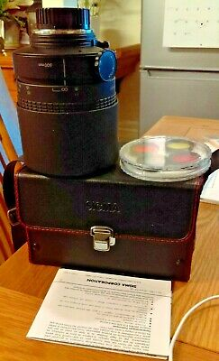 Sigma 600mm F8 Mirror Lens, Filters, Case, Hood & Instructions