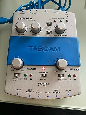 Tascam-US-122-USB-audio-MIDI-interface-AUDIO / USB Interface Cord Included
