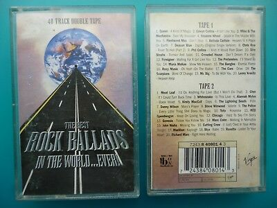 "Various Artists  ""The Best Rock Ballads In The World... Ever! ""  Double Cassette"