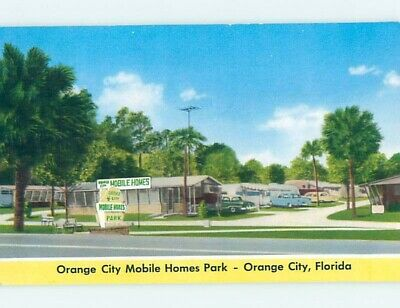 1950's OLD TRAILERS AT MOBILE HOMES PARK Orange City Florida FL hn5668