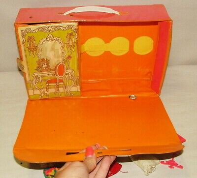 % 1960'S Topper Dawn Doll Vinyl Case With Doll And Clothing Collection