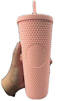 Starbucks Spring Collection 2020 Matte Pink Tumbler Studded 24oz Easter New