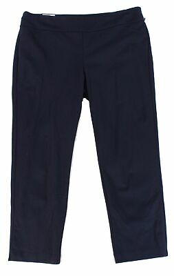 Charter Club Women's Blue Size 18W Plus Ponte Knit Pants Stretch $69 #156
