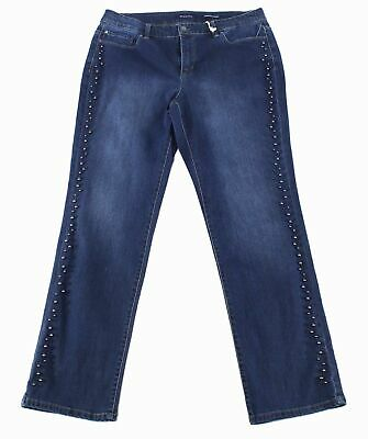 Charter Club Women's Jeans Blue Size 22W Plus Stretch Straight Leg $79 #084
