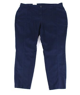 Style & Co. Women Blue Size 14W Plus Skinny Leg Mid-Rise Pants Stretch $59 #079