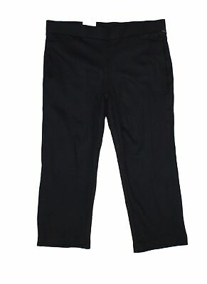 Style & Co. Women's Black Size 20W Plus Straight Cropped Pants Stretch $56 #370