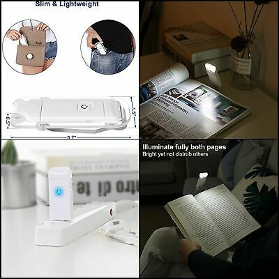 DEWENWILS Rechargeable Book Light for Reading Bed Brightness Adjustable Eye Care